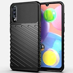 Coque Silicone Housse Etui Gel Serge Y01 pour Samsung Galaxy A70 Noir