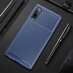 Coque Silicone Housse Etui Gel Serge Y01 pour Samsung Galaxy Note 10 5G Bleu
