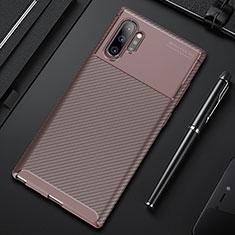 Coque Silicone Housse Etui Gel Serge Y01 pour Samsung Galaxy Note 10 Plus 5G Marron