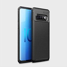 Coque Silicone Housse Etui Gel Serge Y01 pour Samsung Galaxy S10 Plus Noir