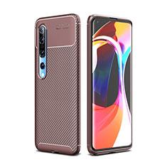 Coque Silicone Housse Etui Gel Serge Y01 pour Xiaomi Mi 10 Pro Marron
