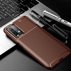 Coque Silicone Housse Etui Gel Serge Y01 pour Xiaomi Poco M3 Marron