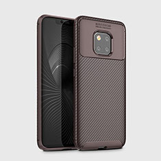 Coque Silicone Housse Etui Gel Serge Y02 pour Huawei Mate 20 Pro Marron