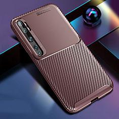 Coque Silicone Housse Etui Gel Serge Y02 pour Xiaomi Mi Note 10 Marron