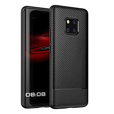 Coque Silicone Housse Etui Gel Serge Z01 pour Huawei Mate 20 Pro Noir