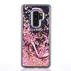 Coque Silicone Motif Fantaisie Souple Couleur Unie Etui Housse K01 pour Samsung Galaxy S9 Plus Or Rose