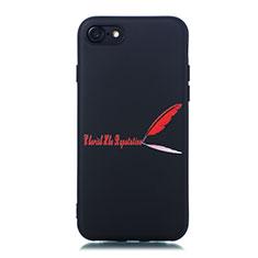 Coque Silicone Motif Fantaisie Souple Couleur Unie Etui Housse S01 pour Apple iPhone SE (2020) Rouge