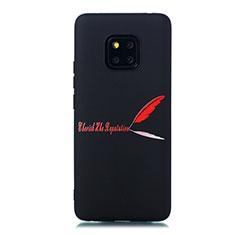 Coque Silicone Motif Fantaisie Souple Couleur Unie Etui Housse S01 pour Huawei Mate 20 Pro Rouge