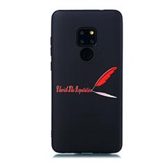 Coque Silicone Motif Fantaisie Souple Couleur Unie Etui Housse S01 pour Huawei Mate 20 Rouge