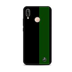Coque Silicone Motif Fantaisie Souple Couleur Unie Etui Housse S01 pour Huawei P20 Lite Vert