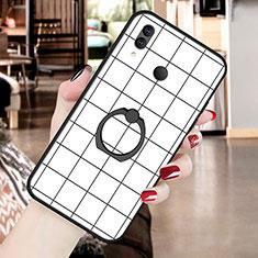 Coque Silicone Motif Fantaisie Souple Couleur Unie Etui Housse S02 pour Huawei P20 Lite Blanc