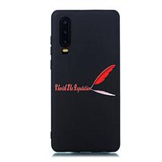 Coque Silicone Motif Fantaisie Souple Couleur Unie Etui Housse S06 pour Huawei P30 Rouge