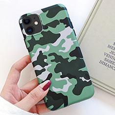 Coque Silicone Motif Fantaisie Souple Couleur Unie Etui Housse S09 pour Apple iPhone 11 Vert