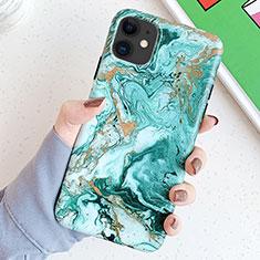 Coque Silicone Motif Fantaisie Souple Couleur Unie Etui Housse S11 pour Apple iPhone 11 Vert