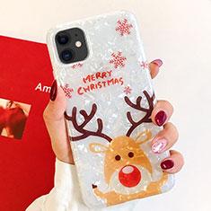 Coque Silicone Motif Noel Souple Couleur Unie Etui Housse pour Apple iPhone 11 Mixte