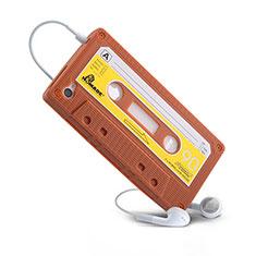 Coque Silicone Souple Cassette pour Apple iPhone 4 Marron