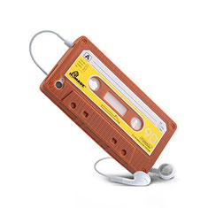 Coque Silicone Souple Cassette pour Apple iPhone 4S Marron
