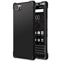 Coque Silicone Souple Couleur Unie Gel pour Blackberry KEYone Noir