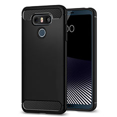 Coque Silicone Souple Couleur Unie Gel pour LG G6 Noir