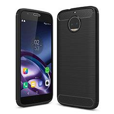 Coque Silicone Souple Couleur Unie Gel pour Motorola Moto G5S Plus Noir