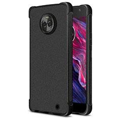 Coque Silicone Souple Couleur Unie Gel pour Motorola Moto X4 Noir