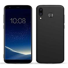 Coque Silicone Souple Couleur Unie Gel pour Samsung Galaxy A8 Star Noir
