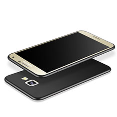 Coque Silicone Souple Couleur Unie Gel pour Samsung Galaxy J7 Prime Noir