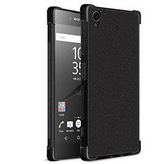 Coque Silicone Souple Couleur Unie Gel pour Sony Xperia XA1 Plus Noir