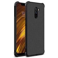 Coque Silicone Souple Couleur Unie Gel pour Xiaomi Pocophone F1 Noir