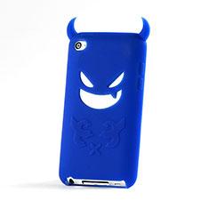 Coque Silicone Souple Demon Diable Masque pour Apple iPod Touch 4 Bleu