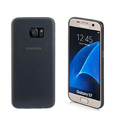 Coque Silicone Souple Mat pour Samsung Galaxy S7 G930F G930FD Noir