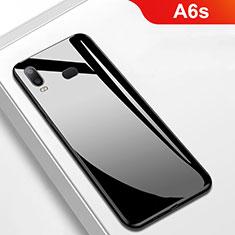 Coque Silicone Souple Miroir M01 pour Samsung Galaxy A6s Noir