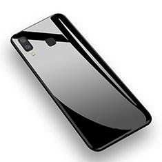 Coque Silicone Souple Miroir M01 pour Samsung Galaxy A8 Star Noir