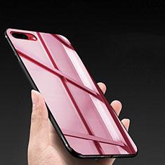 Coque Silicone Souple Miroir M03 pour Apple iPhone 7 Plus Rouge