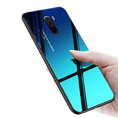 Coque Silicone Souple Miroir M03 pour Xiaomi Pocophone F1 Bleu