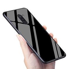 Coque Silicone Souple Miroir M04 pour Xiaomi Pocophone F1 Noir