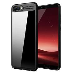 Coque Silicone Souple Miroir M05 pour Huawei Honor View 10 Noir