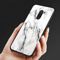 Coque Silicone Souple Miroir M05 pour Xiaomi Pocophone F1 Blanc