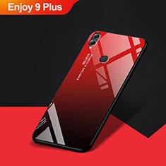 Coque Silicone Souple Miroir pour Huawei Enjoy 9 Plus Rouge