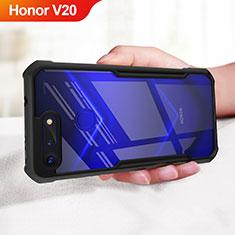 Coque Silicone Souple Miroir pour Huawei Honor V20 Noir