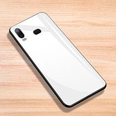 Coque Silicone Souple Miroir pour Samsung Galaxy A6s Blanc