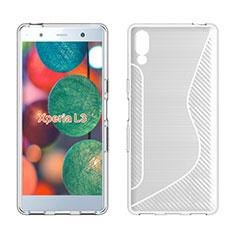 Coque Silicone Souple Transparente Vague S-Line Housse Etui pour Sony Xperia L3 Blanc
