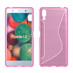 Coque Silicone Souple Transparente Vague S-Line Housse Etui pour Sony Xperia L3 Rose