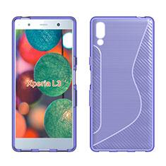 Coque Silicone Souple Transparente Vague S-Line Housse Etui pour Sony Xperia L3 Violet