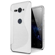 Coque Silicone Souple Transparente Vague S-Line Housse Etui pour Sony Xperia XZ2 Compact Clair