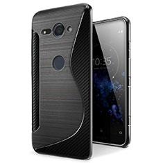 Coque Silicone Souple Transparente Vague S-Line Housse Etui pour Sony Xperia XZ2 Compact Noir