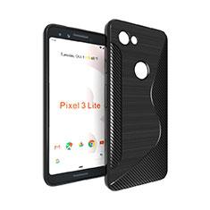 Coque Silicone Souple Transparente Vague S-Line pour Google Pixel 3a XL Noir