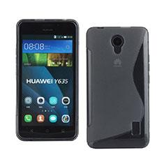 Coque Silicone Souple Transparente Vague S-Line pour Huawei Ascend Y635 Gris