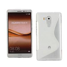 Coque Silicone Souple Transparente Vague S-Line pour Huawei Mate 8 Blanc