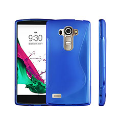 Coque Silicone Souple Transparente Vague S-Line pour LG G4 Beat Bleu